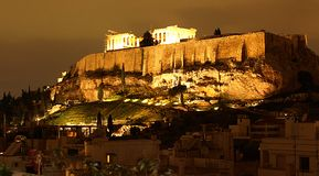 Athens at Night Royalty Free Stock Image