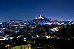 Athens by night Royalty Free Stock Photography