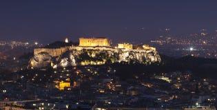 Athens at night. Acropolis the landmarks of Athens Royalty Free Stock Photo