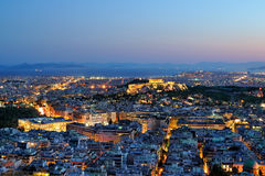 Athens at night. View over the Athens at night, Greece Stock Images