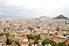 Athens och Lycabettus kull Arkivbilder