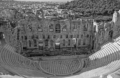 Athens - The Odeon of Herodes Atticus or Herodeon under The Acropolis in morning. Light Royalty Free Stock Images