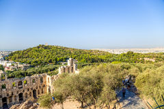 Athens. The Odeon of Herodes Atticus 7 Royalty Free Stock Image
