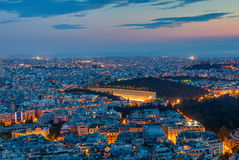 Athens with the old olympic stadium Royalty Free Stock Photography