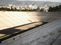 Athens Old Stadium. The beautiful old stadium in Athens, Greece stock photography