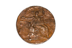 Athens 1896 Olympic Games Participation medal obverse Kouvola Finland 06.09.2016. Royalty Free Stock Photos