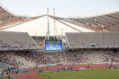 Athens Olympic Stadium During Event Royalty Free Stock Photos