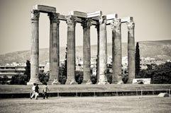 athens olympisk tempelzeus Arkivfoto