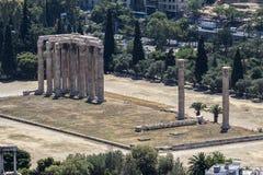 athens olympisk tempelzeus Arkivfoton