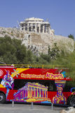Athens' open top sightseeing tour bus Stock Photos
