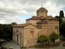 Athens Orthodox Church. Monastery attraction Greece Royalty Free Stock Image