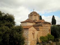 Athens Orthodox Church. Monastery attraction Greece Stock Photo