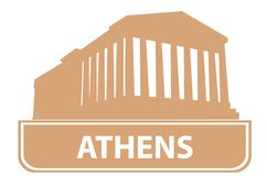 Athens outline Stock Photography