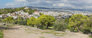 Athens - Outlook from Areopagus hill to Agia Marina church. Stock Photography