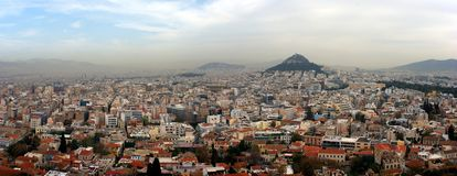 Athens Panorama Stock Images