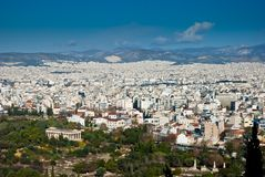 Athens panorama, Greece. Athens panorama, capital of Greece and largest city in the country Royalty Free Stock Photography