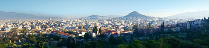 Athens Panorama Stock Photos
