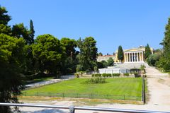 Athens Park - Greece. Statue in Green Garden - Athens, Greece Royalty Free Stock Photography
