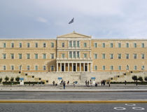 Athens Parliament Building Royalty Free Stock Photography
