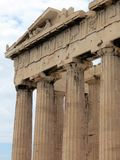 Athens,part of the columns Parthenon royalty free stock photo