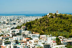 Athens from the Parthenon Royalty Free Stock Images