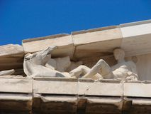 athens parthenon Arkivfoto