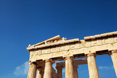 Athens Parthenon, Greece. Athens Parthenon, Columns and frieze. Acropolis,  Greece Royalty Free Stock Images
