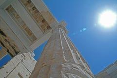 athens parthenon widok Zdjęcia Royalty Free