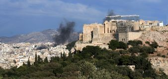 Athens Riots Royalty Free Stock Photo