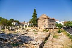 Athens. Roman Agora and Turkish Mosque Royalty Free Stock Photo