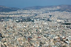 Athens roofs panorama ,Greece Royalty Free Stock Photography