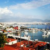 Athens. Seaside medeteranian sea marina royalty free stock image