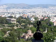 Athens seen from the Parthenon royalty free stock photo