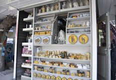 Athens, september 6th: Souvenirs Shop interior from Athens in Greece. Souvenirs Shop interior from Athens in Greece on september 6th 2017 stock photos