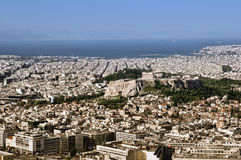 Athens skyline Royalty Free Stock Photo