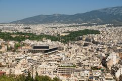 Athens skyline Royalty Free Stock Image