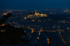 Athens skyline aerial view from the Lycabettus hill Royalty Free Stock Image