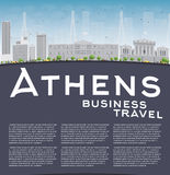 Athens Skyline with Grey Building, Blue Sky and copy space Royalty Free Stock Image