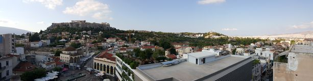 Athens skyline Stock Photo
