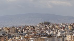 Athens Skyline, Pollution Stock Image