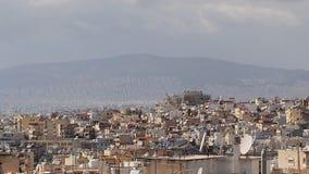 Athens Skyline, Pollution Stock Image
