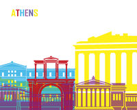 Athens skyline pop Royalty Free Stock Photography