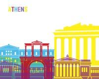 Athens skyline pop Royalty Free Stock Photography