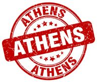 Athens stamp. Athens round grunge stamp isolated on white background. Athens