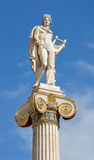 Athens - The statue of Apollo on the column in front of The National Academy building by Leonidas Drosis Stock Image