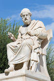 Athens - The statue of Plato in front of National Academy building. By the Italian sculptor Piccarelli (from 19. cent Royalty Free Stock Photography