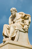 Athens - The statue of Socrates in front of National Academy building by the Italian sculptor Piccarelli Royalty Free Stock Photos