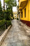 Athens street scene royalty free stock images