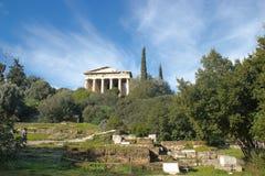 athens tempel fotografering för bildbyråer