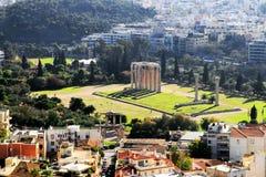 athens tempelzeus Royaltyfri Fotografi